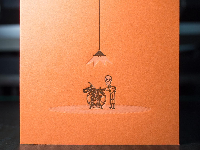 Letterpress Halloween Card
