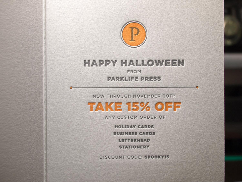 Halloween Letterpress Sale