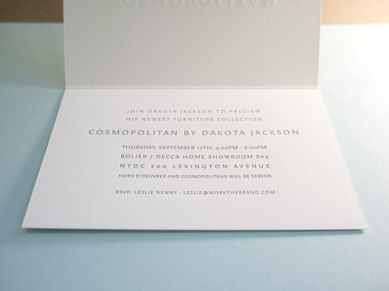 Folded Letterpress Card