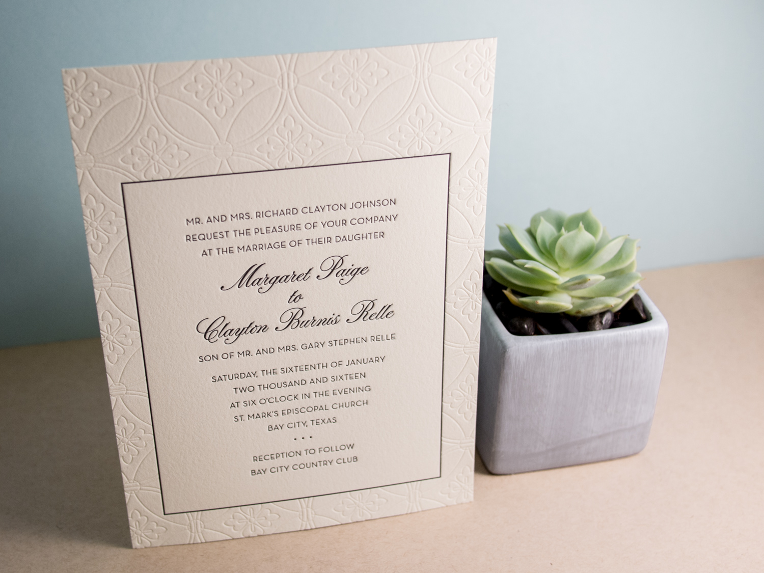 Paige Wedding Invitation