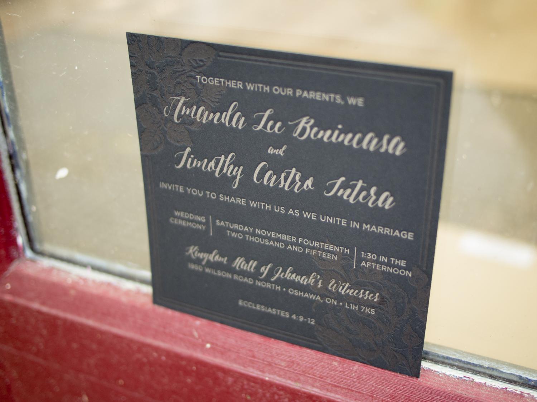 Black Letterpress Invitation