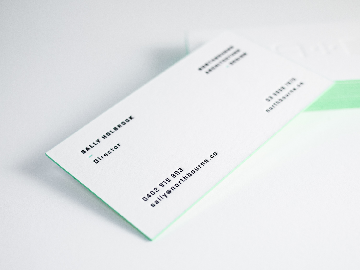 Letterpress Business Cards with Edge Paint