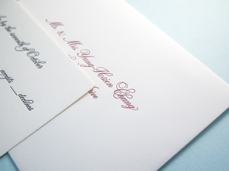 Letterpress Reply Envelope