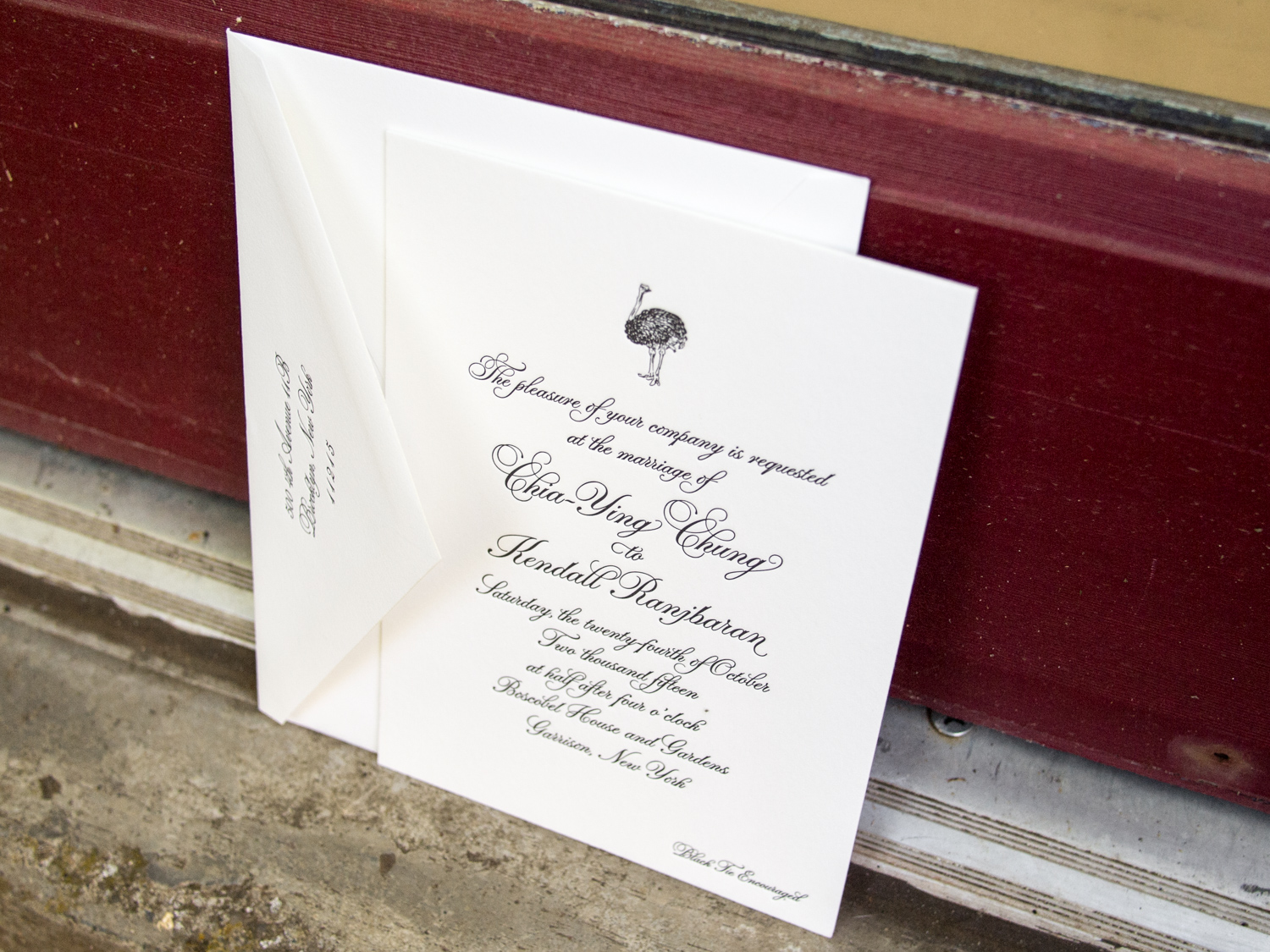Ostrich Wedding Invitation