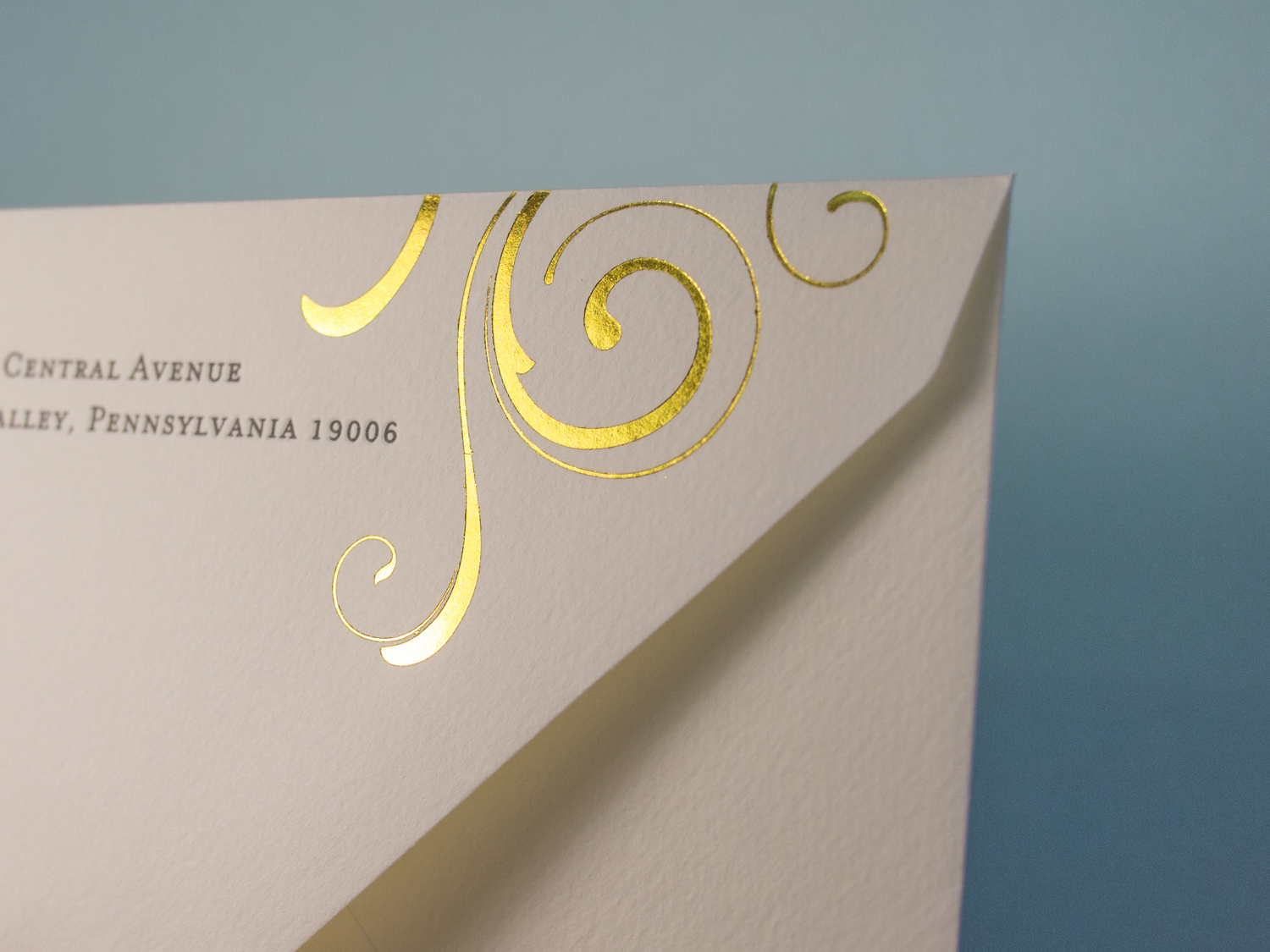 Gold Foil Envelope Flap