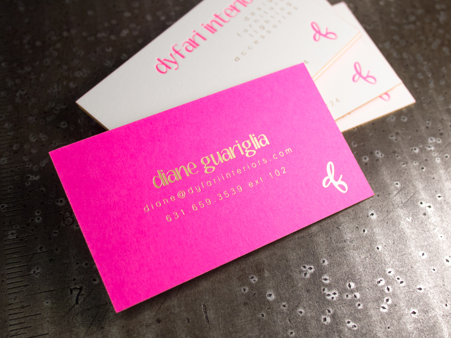 Gold Foil on Fuchsia