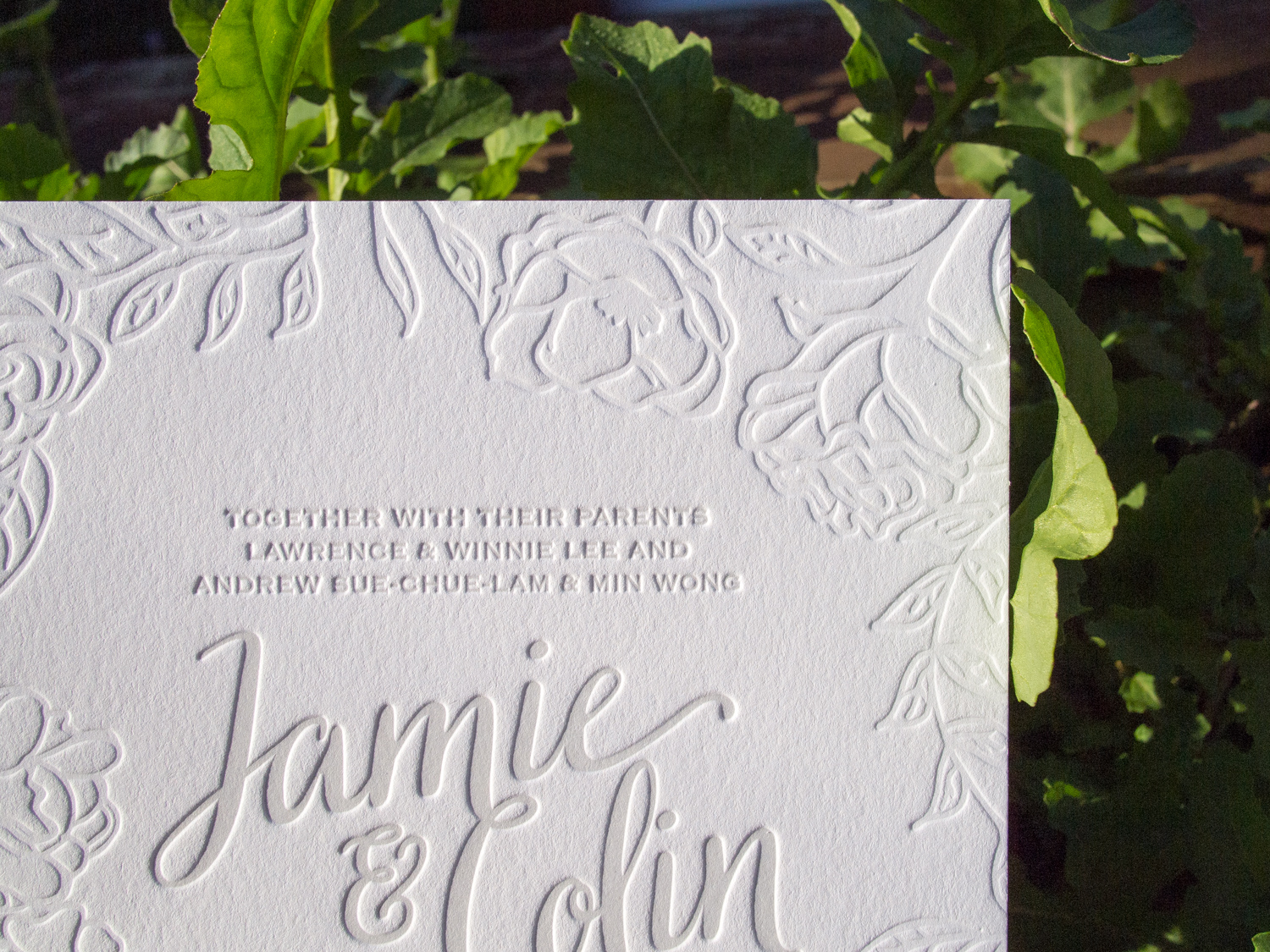 Blind Letterpress Invitation