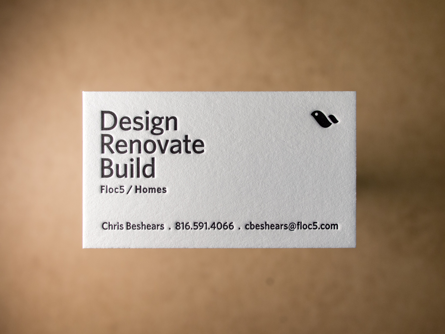 Builder Letterpress Business Card