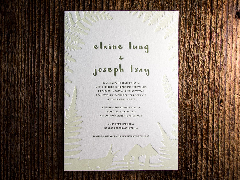 Forest Letterpress Invitation