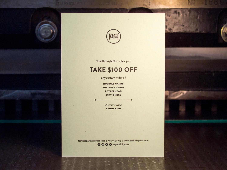 Letterpress Discount