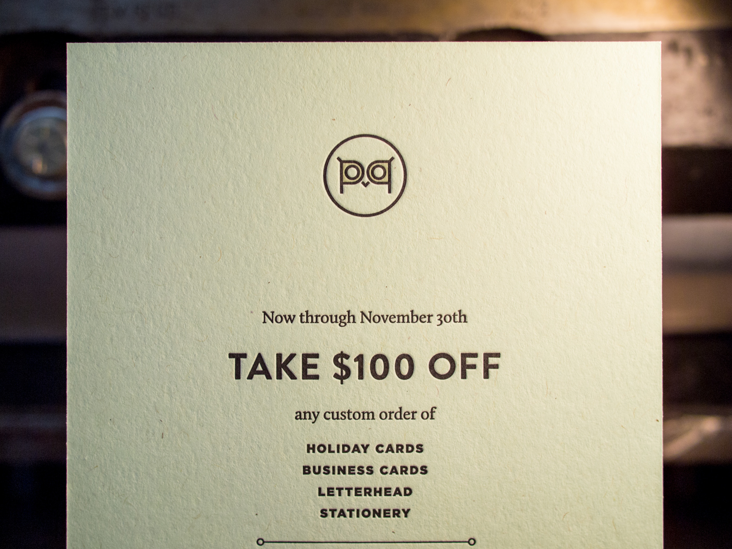 Letterpress Coupon