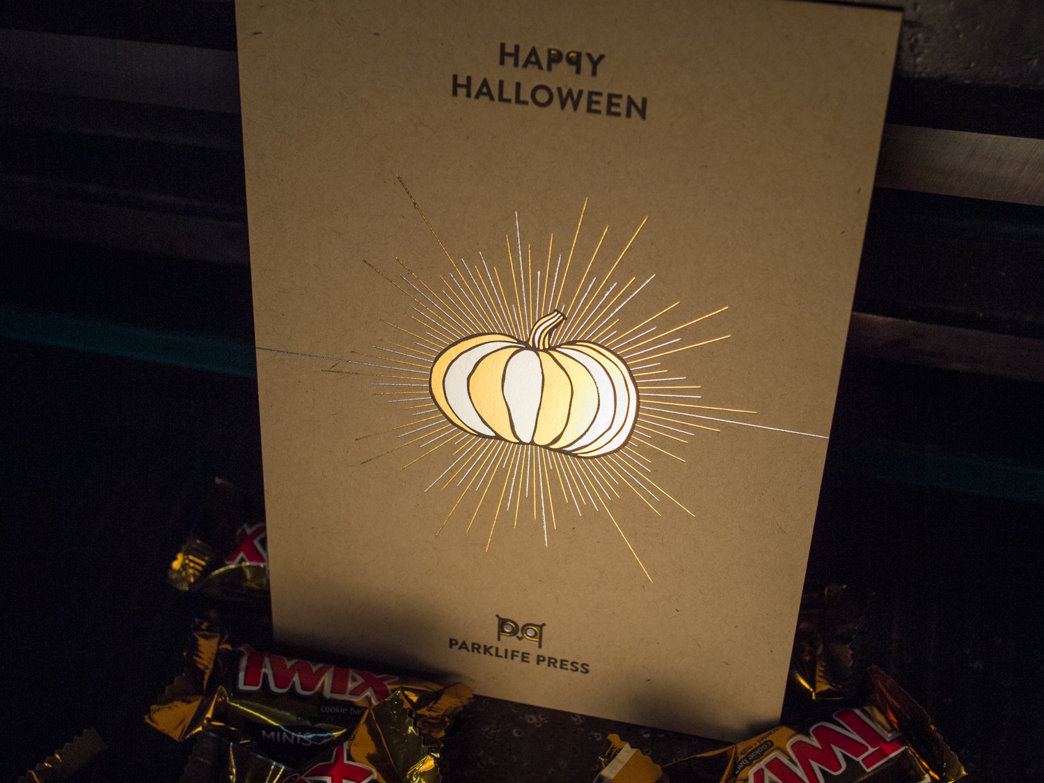 Foil Stamped Halloween Card