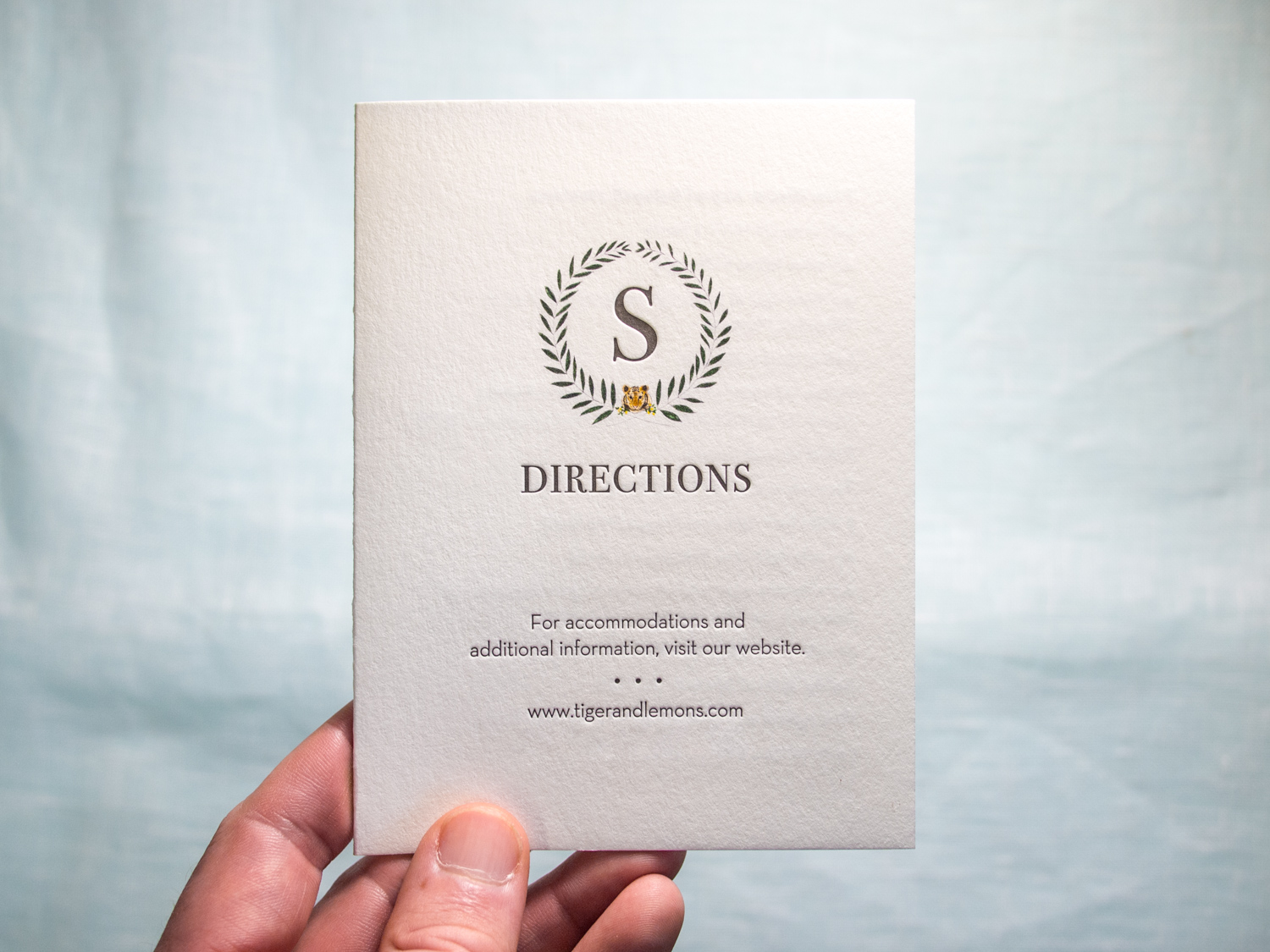 Letterpress Directions Booklet