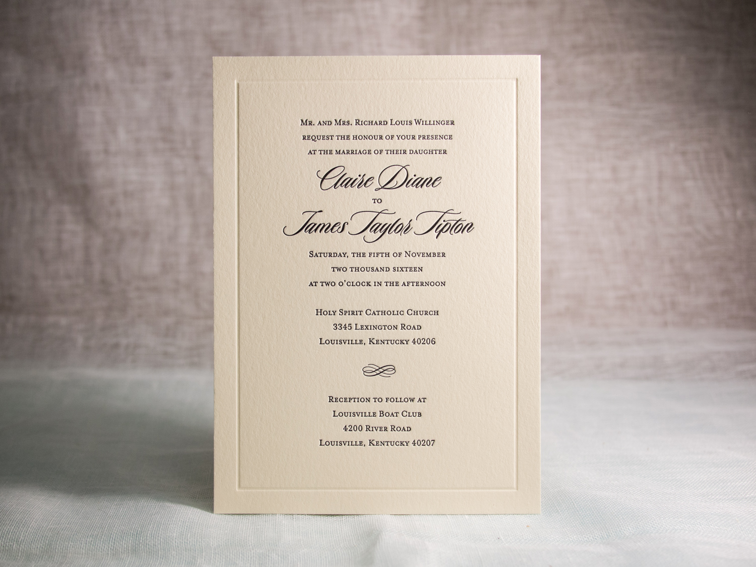 Vintage Letterpress Invitation