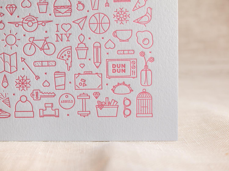 Letterpress Icons