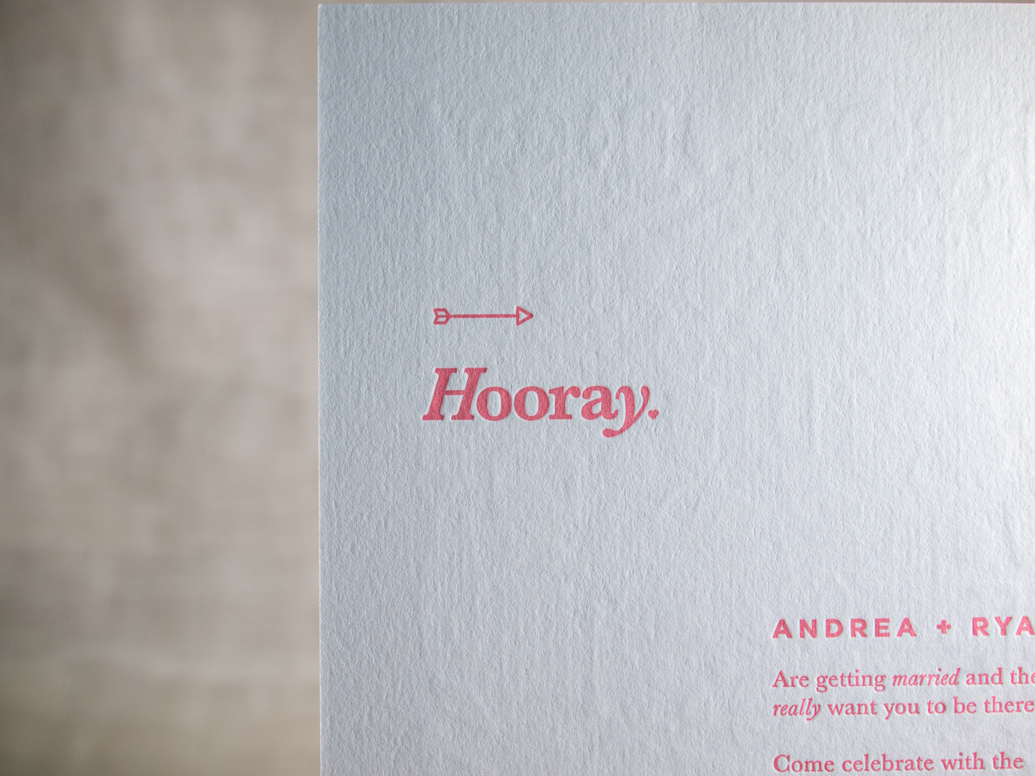 Colorplan Letterpress Invitation