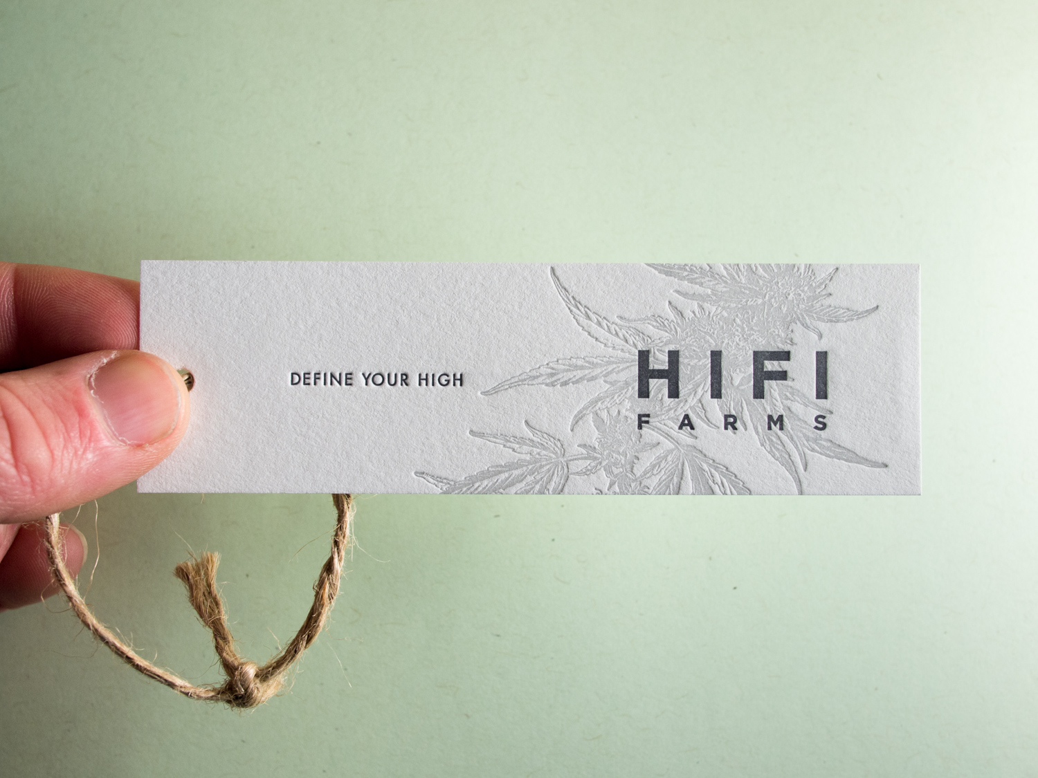 Hifi Farms Letterpress Tag