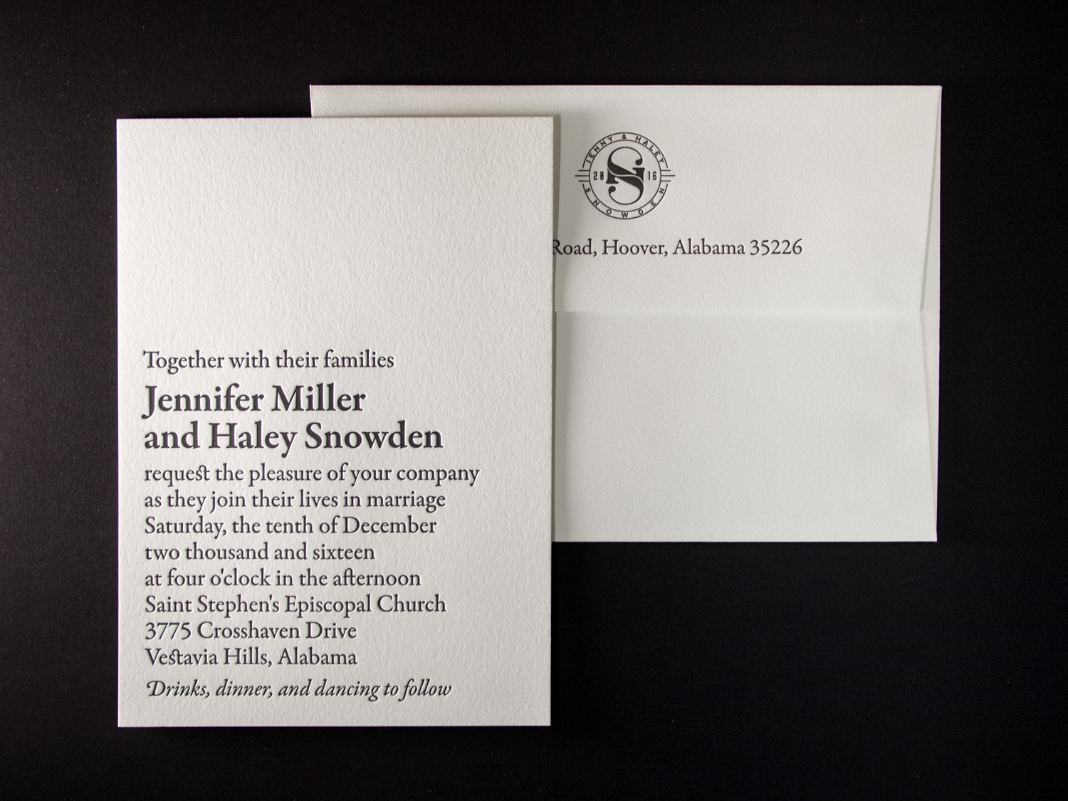 Letterpress Invite Set