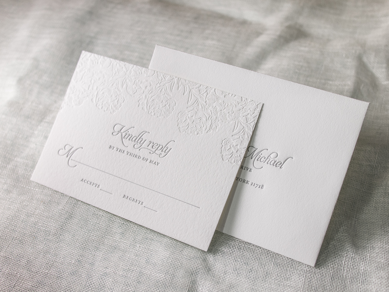 Letterpress Reply Card