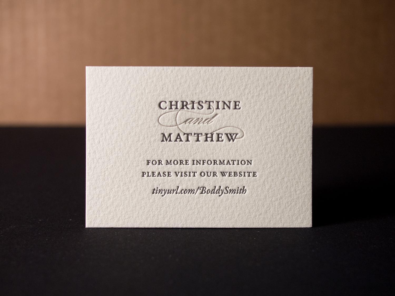 Letterpress Website Card