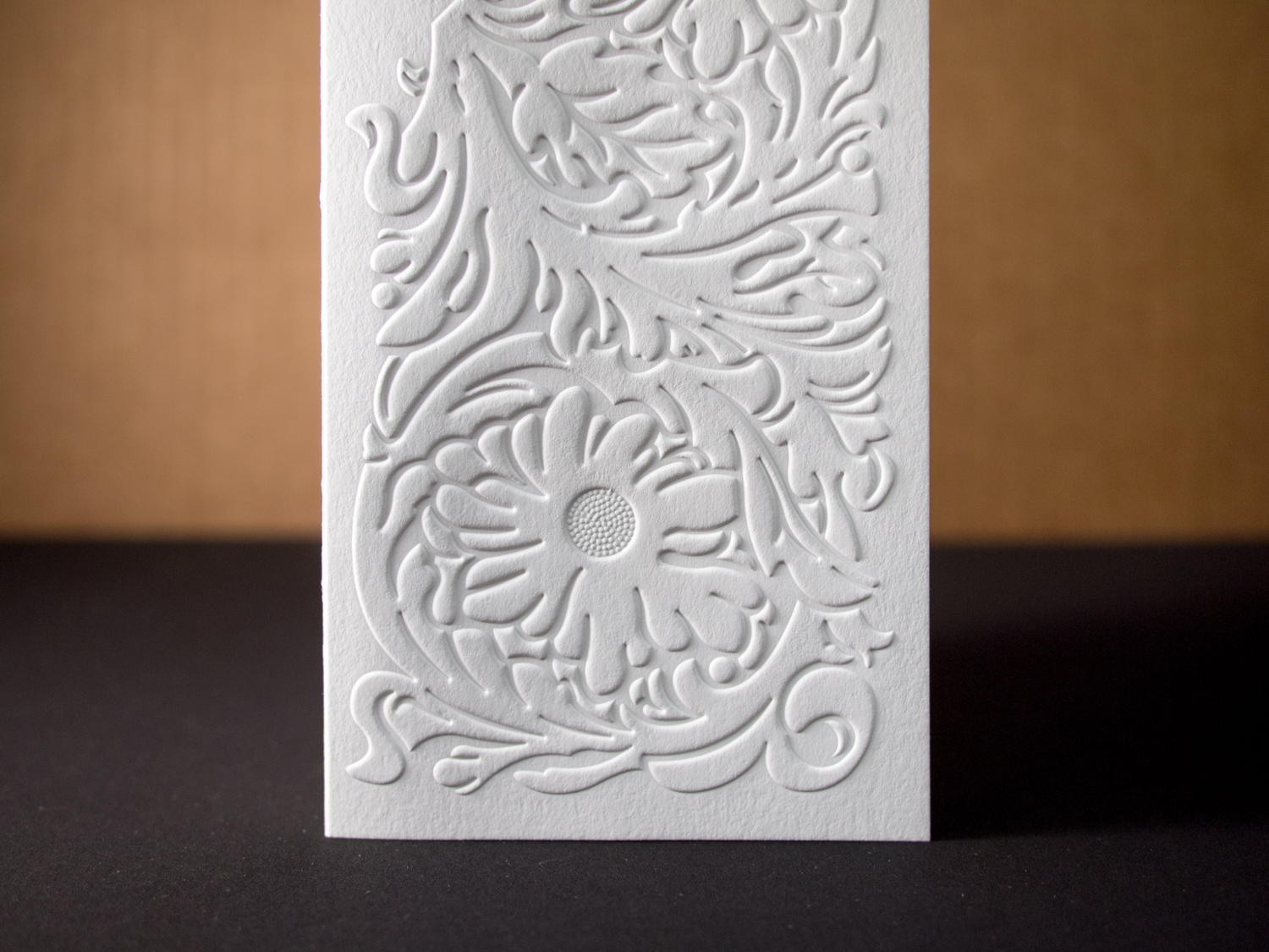 Blind Embossing Close-up