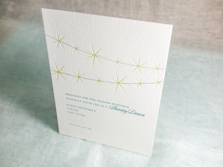 Lights Letterpress Holiday Card