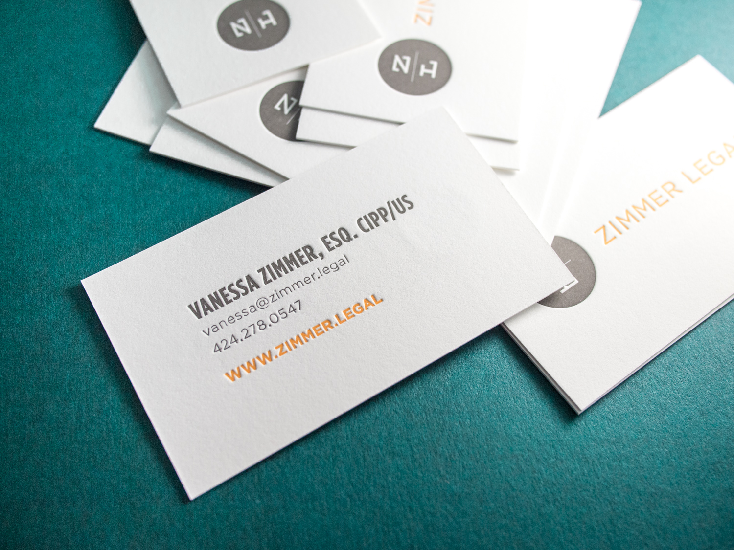 Attorney Letterpress Business Cards