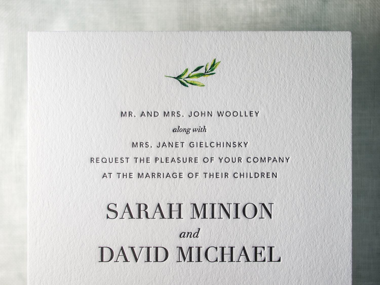 Modern Letterpress Invite