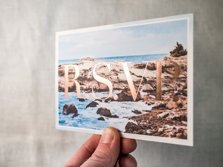 Foil RSVP Postcard