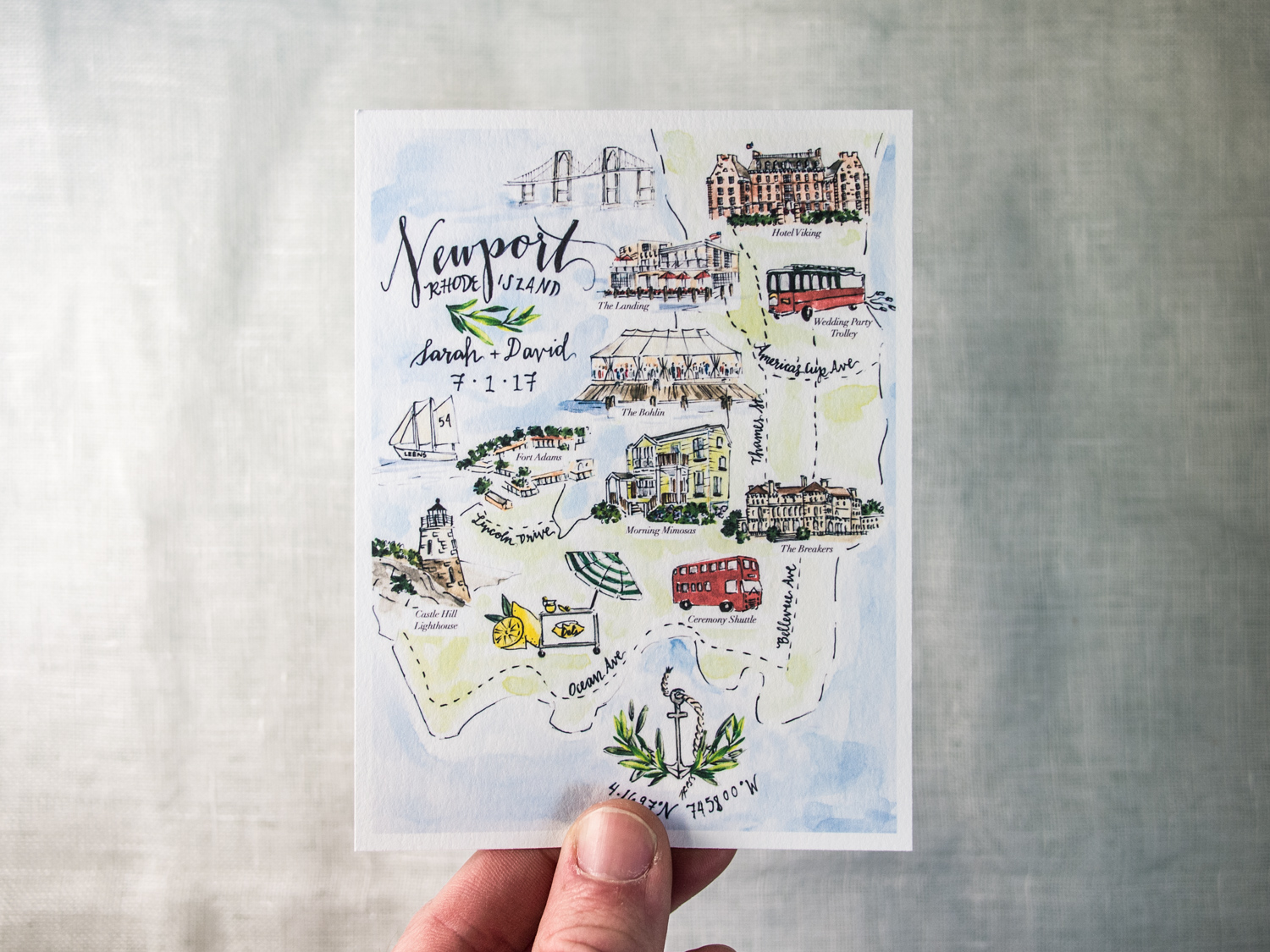 Wedding Map Card