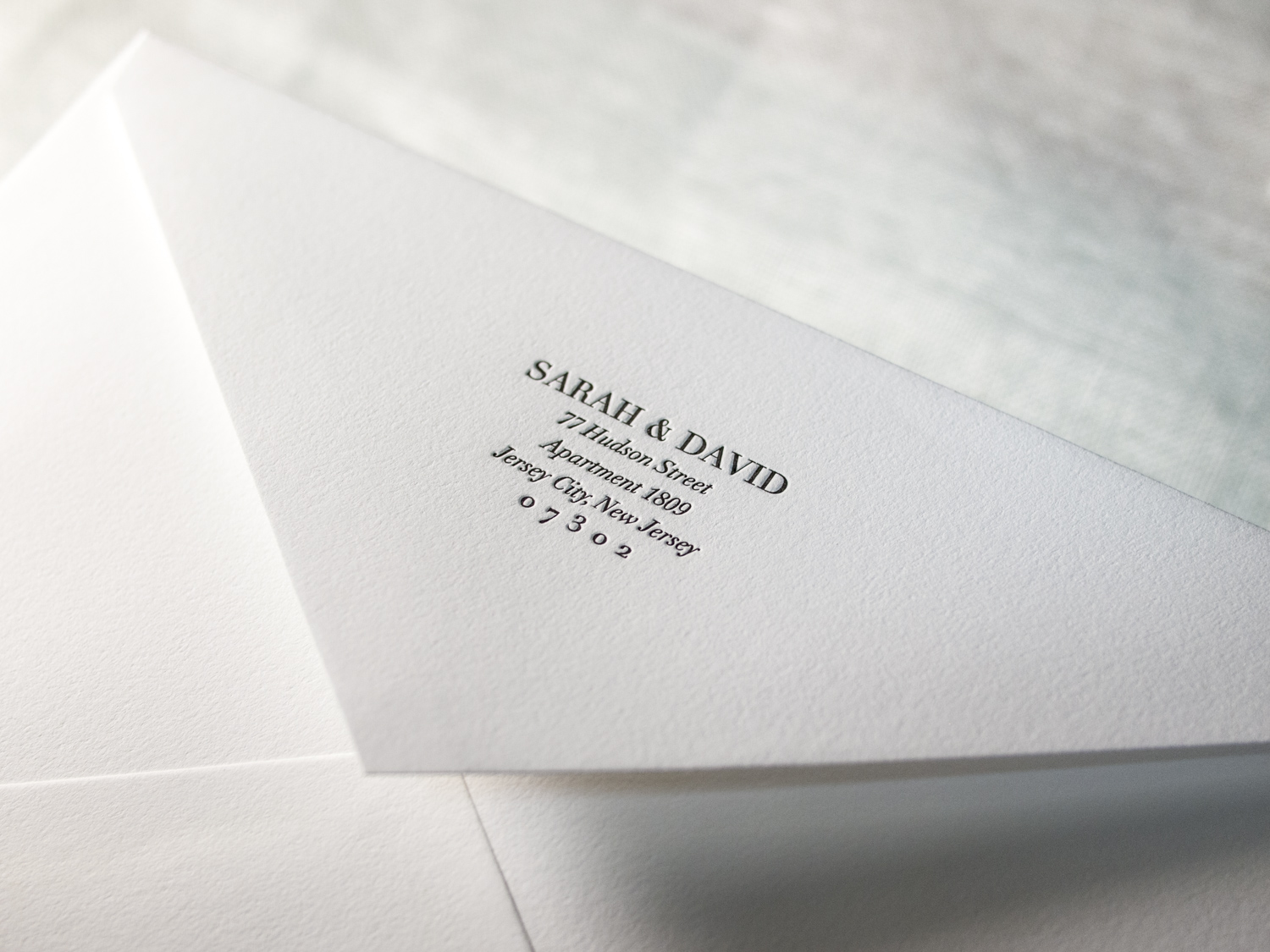 Letterpress Envelope Flap