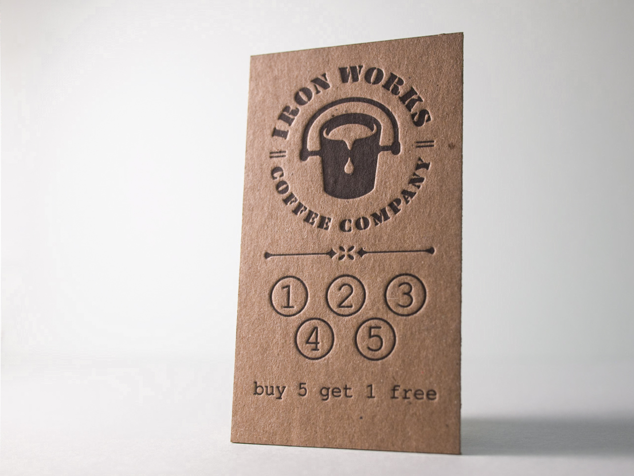 Letterpress Punch Card