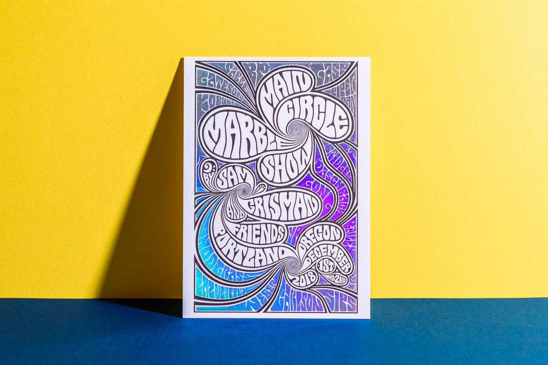Letterpress Foil Postcard