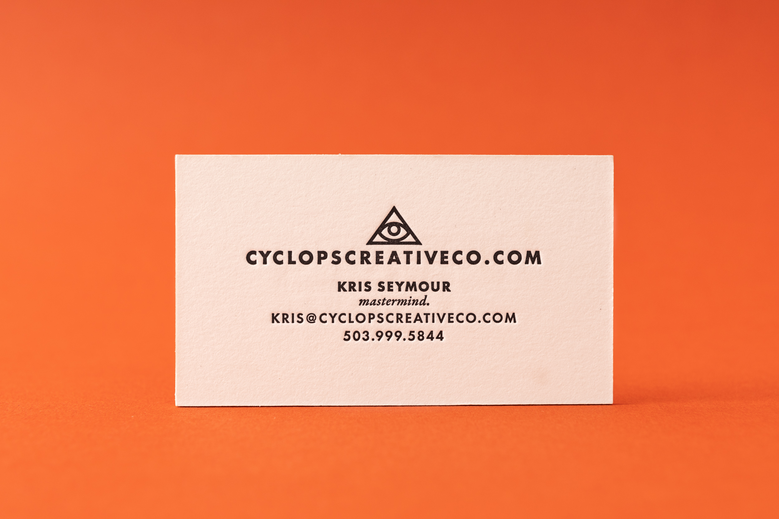 Antique Letterpress Business Card