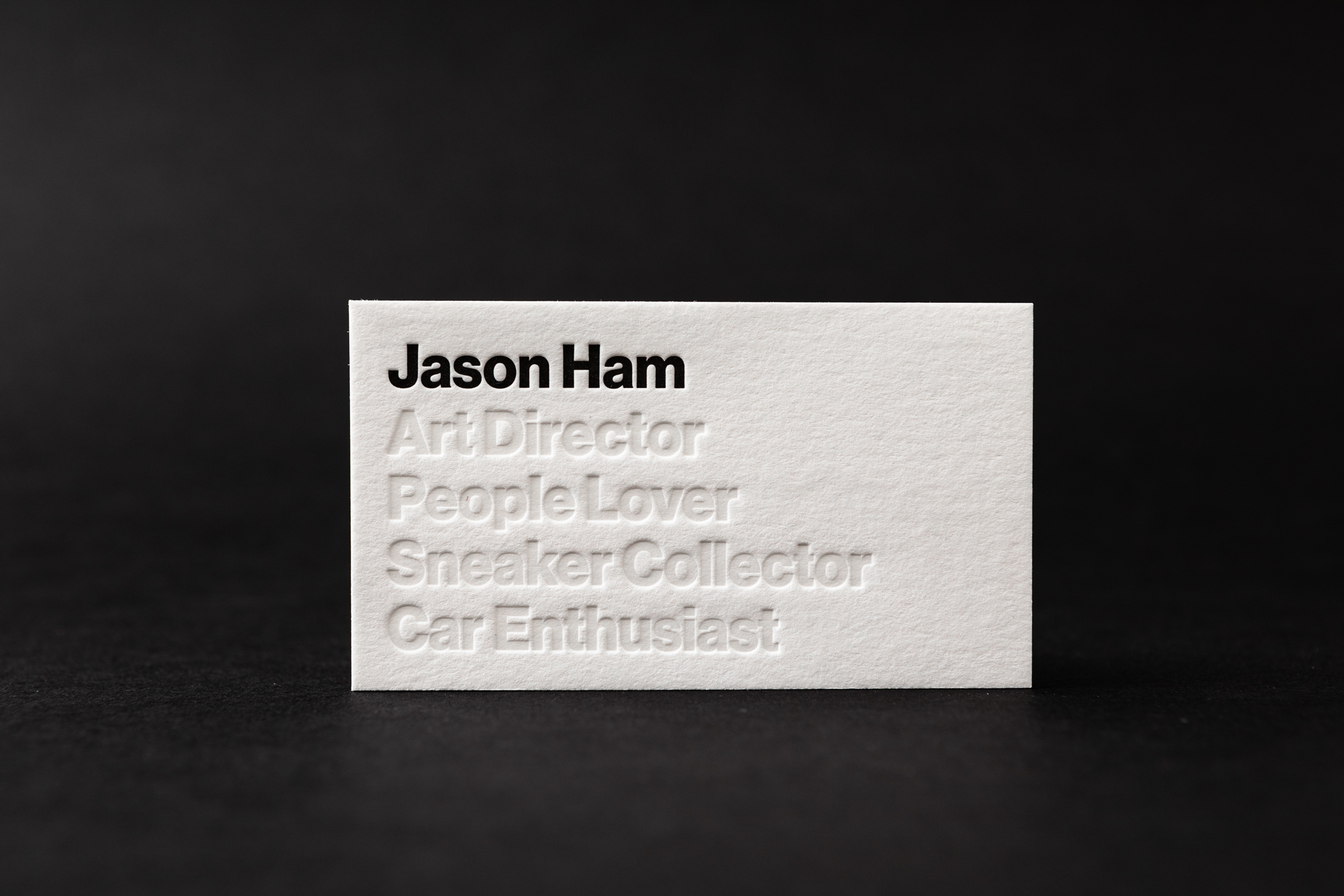 Helvetica Business Cards