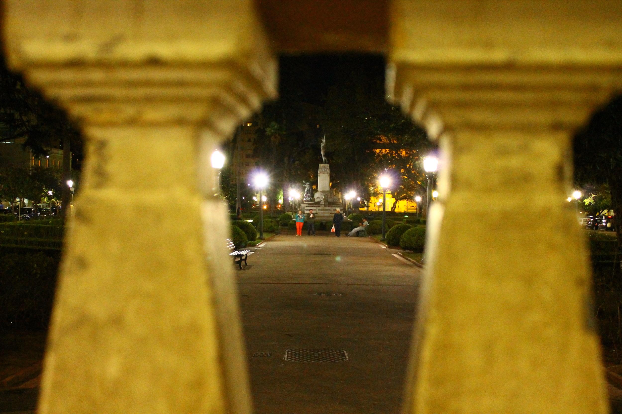 Praça Pedro Sanches, conhecida como praça do Coreto.