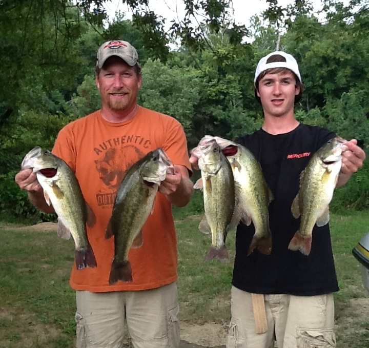 James Harner and Chandler Dowling Third Place and Big Fish 12.40 lbs and 4.14 lbs