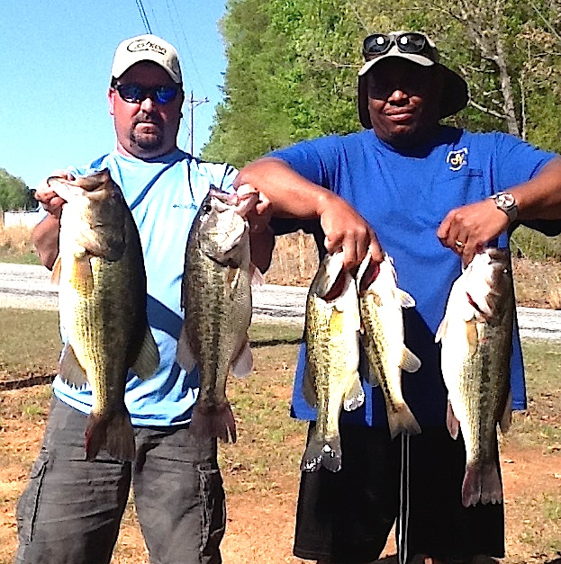 Melvin Bowling and Scott Falls First Place and Big Fish 21.08 lbs and 6.97 lbs