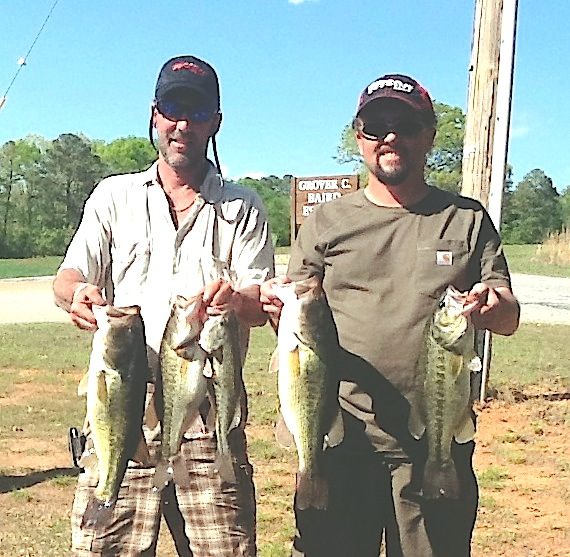 Ricky Fulk and Jeff Lugar Third Place 15.85 lbs
