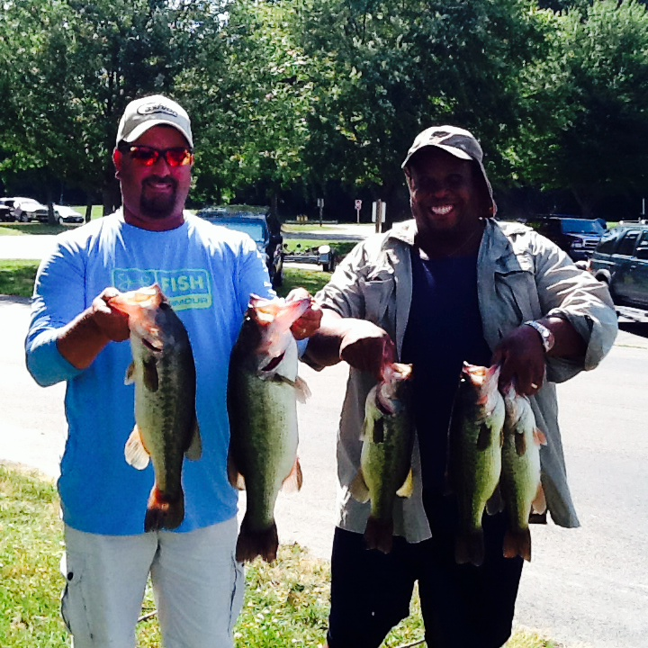 Melvin Bowling and Scott Falls First Place and Big Fish 14.33 lbs and 4.79 lbs