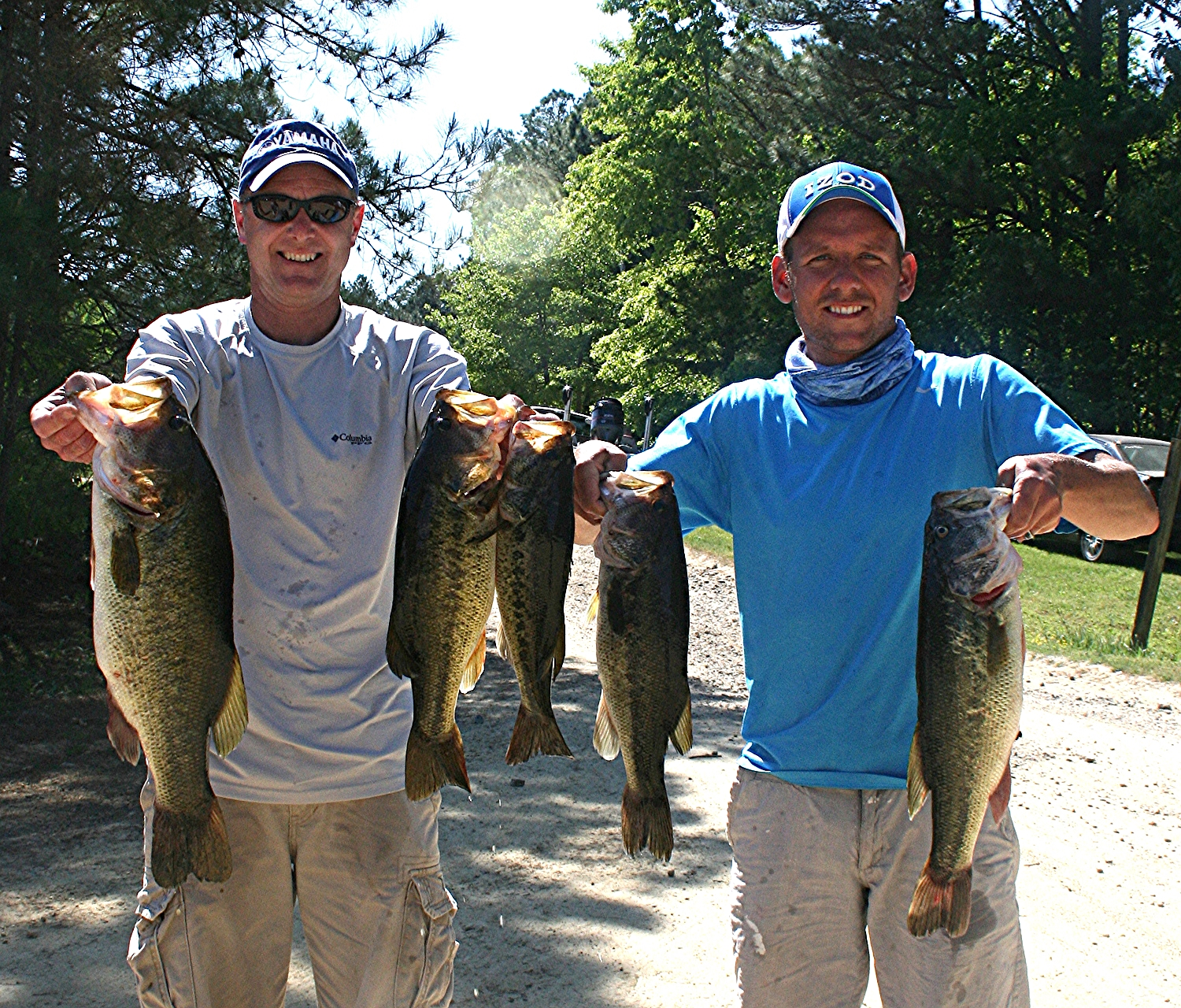 Mark  and Michael Heatwole First Place and Big Fish 21.88 lbs and 7 44 lbs