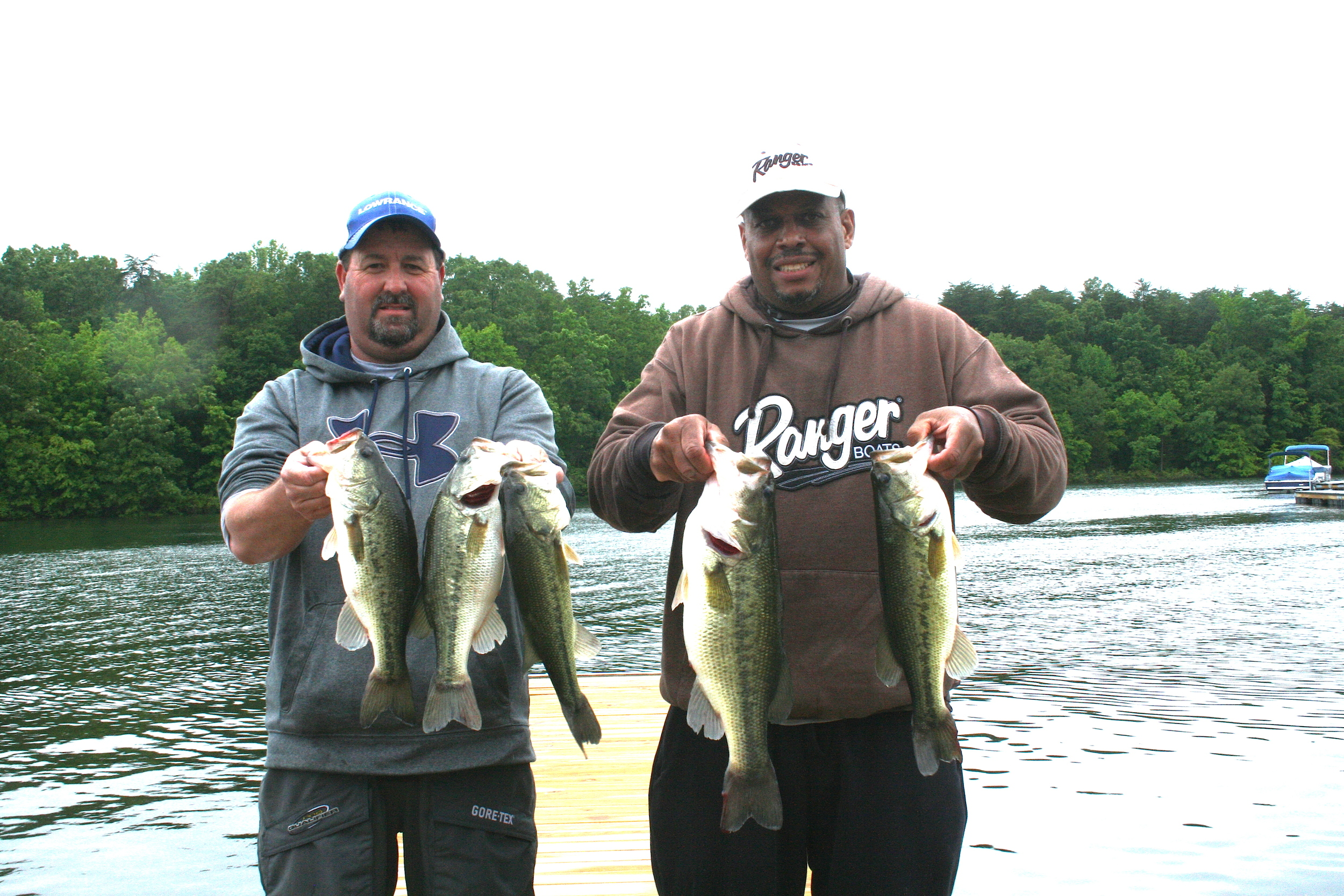 Melvin Bowling and Scott Falls Fourth Place 12.05 lbs