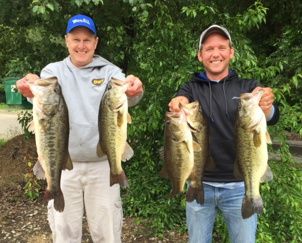 Mark and Michael Heatwole First Place and Big Fish 21.43 lbs and 6.33 lbs