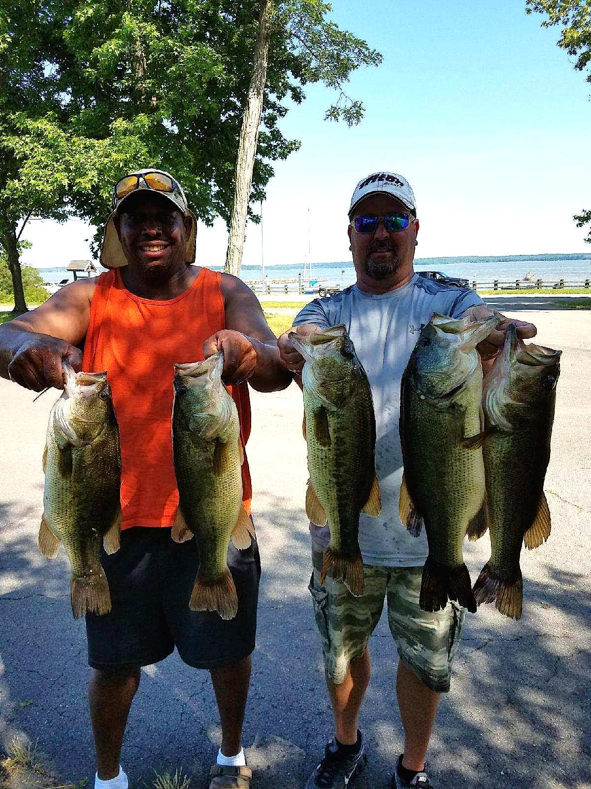 Scott Falls and Melvin Bowling Second Place 16.12 lbs