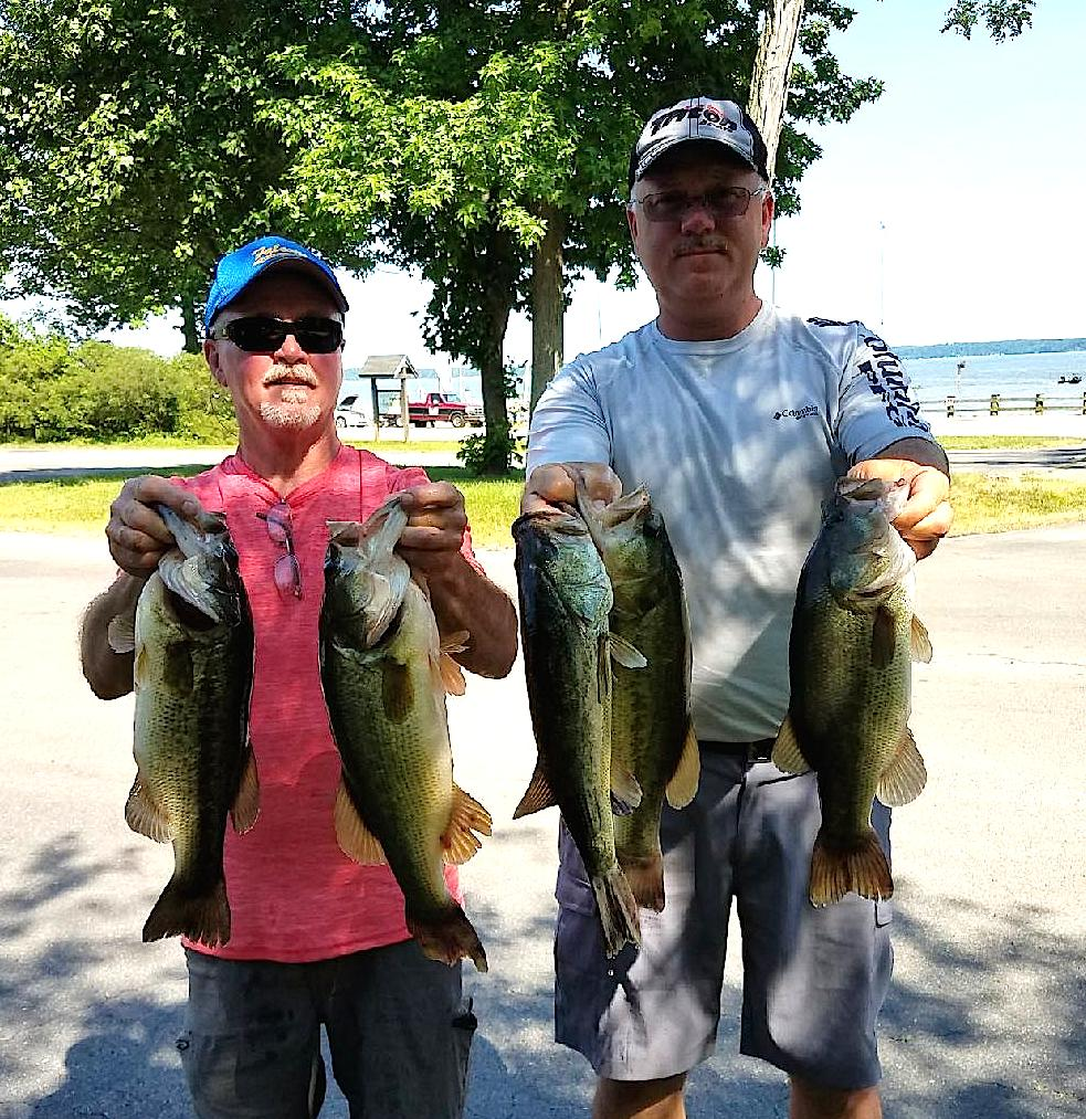 Bill Seal and Melvin Fulk Fourth Place 15.40 lbs
