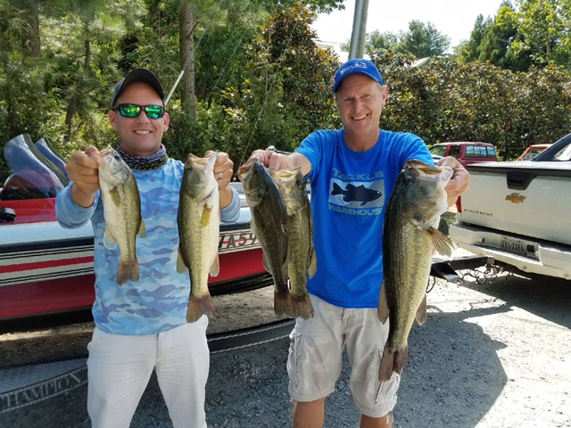 Michael and Mark Heatwole Second Place and Big Fish 12.66 and 5.34 lbs!