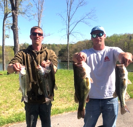 James Burner and Chris Orndorff Third Place and Big Fish 15.98 and 6.92 lbs