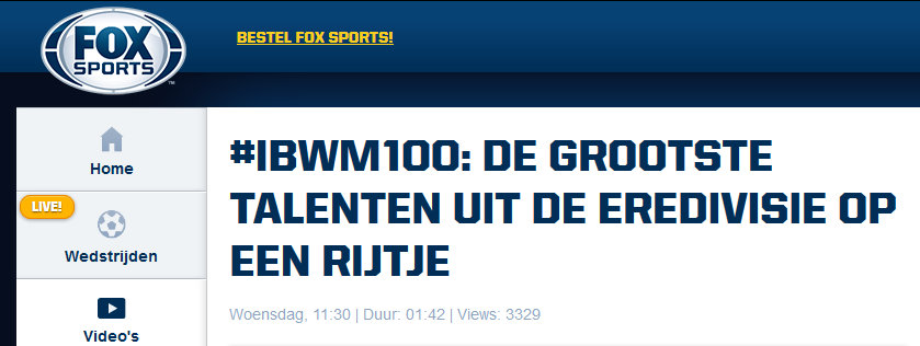 Fox Sports (Netherlands), December 2014