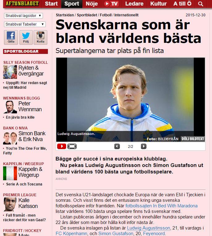 Aftonbladet, December 2015