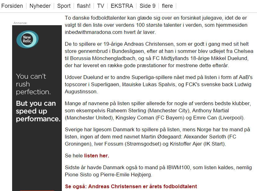 Ekstra Bladet, December 2015